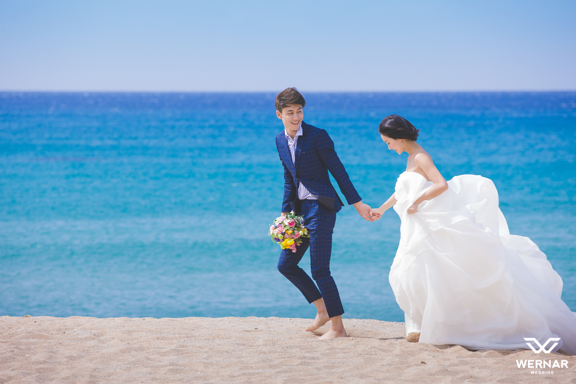 海边婚纱照片大全背影