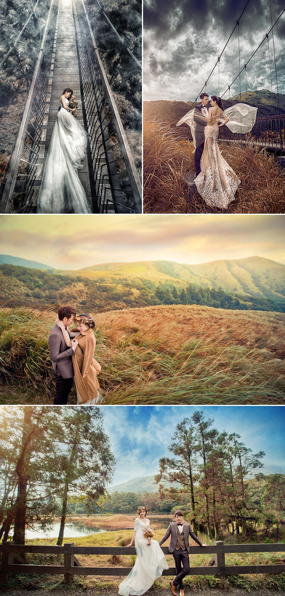 台灣婚紗照外拍景點 - 陽明山冷水坑生態池