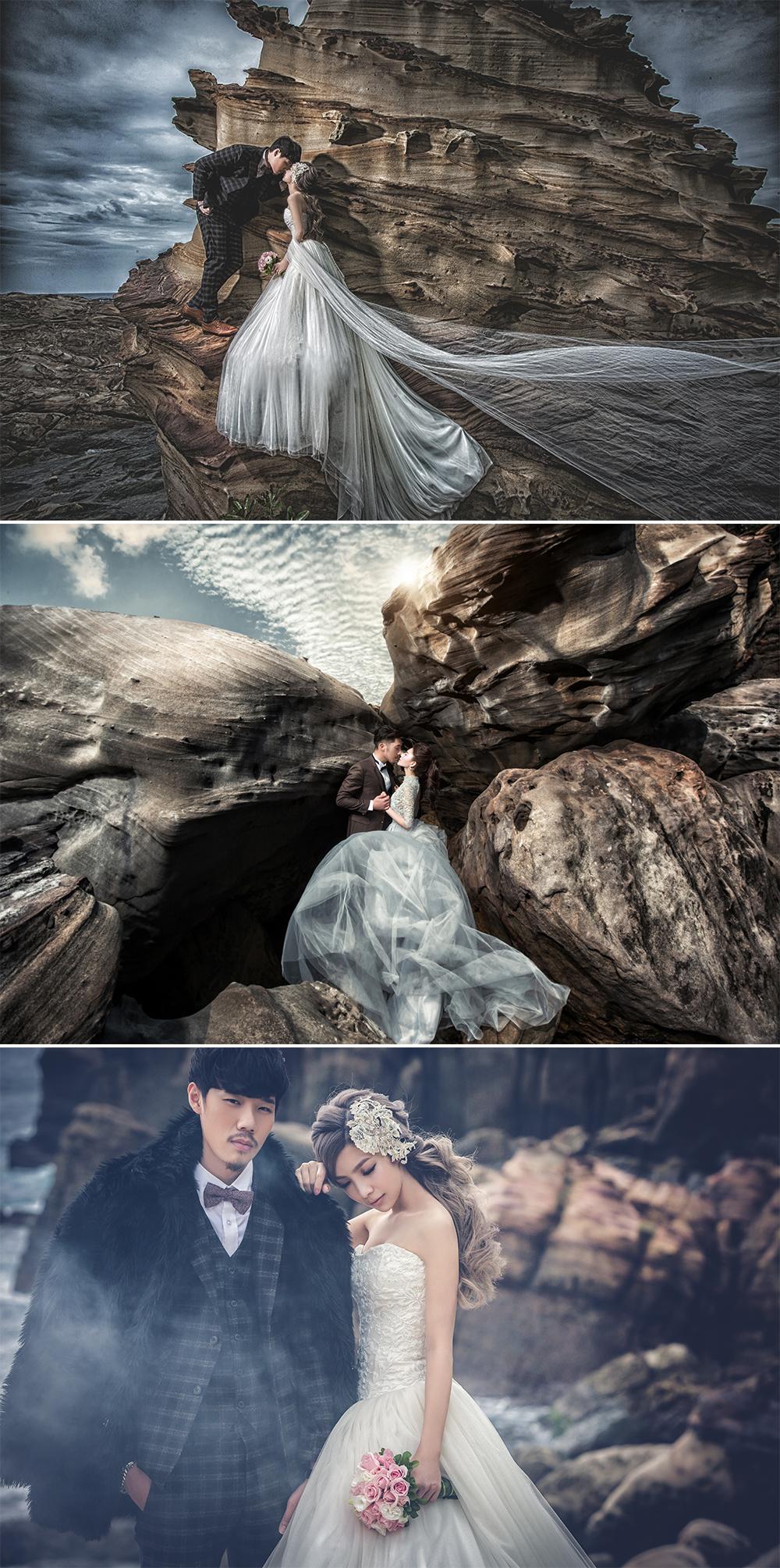 台灣婚紗照外拍景點 - 九份南雅奇岩
