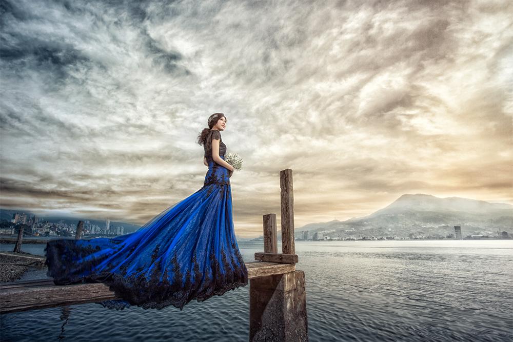 台灣婚紗照外拍景點 - 淡水小碼頭