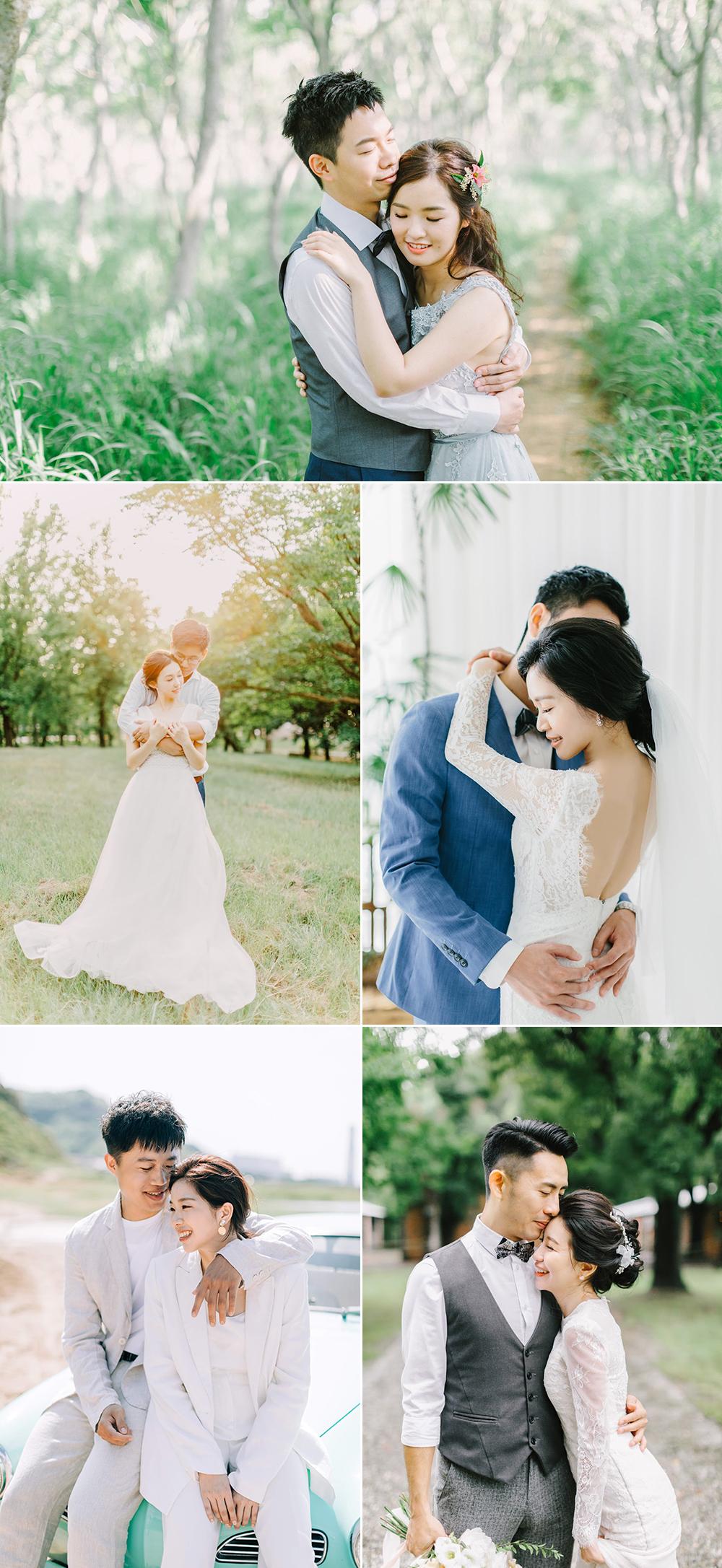 拍婚紗照姿勢練習